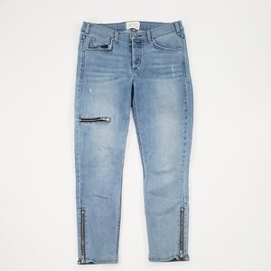 McGuire Skinny Distressed Ankle Zipper Jeans